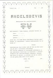 Borgmester Per Madsens andelsbevis.