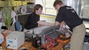 Lydprøver inden direkte transmission fra Vejleåparken.