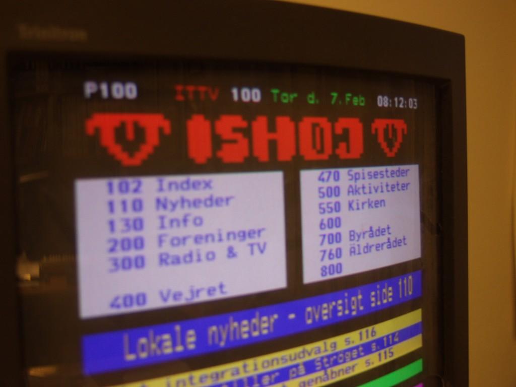 Tekst-TV blev tidligt taget i anvendelse på TV-Ishøj.
