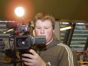 Kevin Rasmussen på optagelse