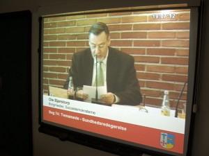 Borgmester Ole Bjørstorp på live tv.