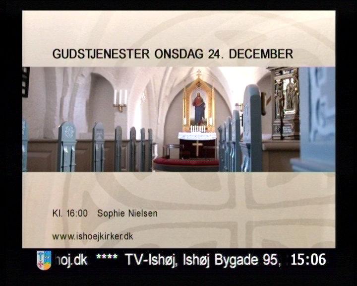 Info-tv side fra kirkerne i Ishøj.