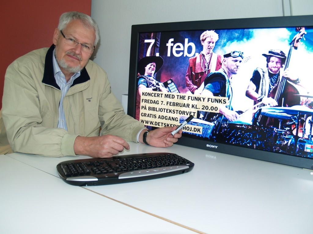 Et demoshow til brug på Ishøj Bibliotek blev produceret.