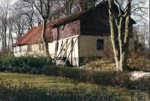 Møllehuset på Pile Mølle. Den ældste del går tilbage til 1200 tallet