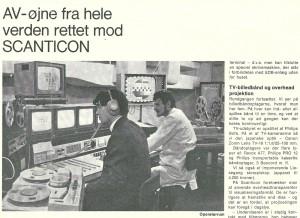 TV- kontrolrummet på Scanticon.